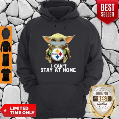 Star Wars Baby Yoda Mask Hug Pittsburgh Steelers I Can't Stay At Home Hoodie