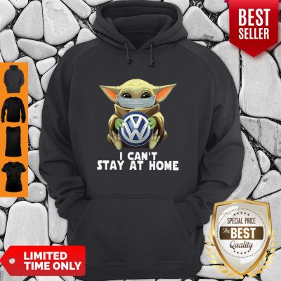 Star Wars Baby Yoda Mask Hug Volkswagen Can't Stay At Home Hoodie