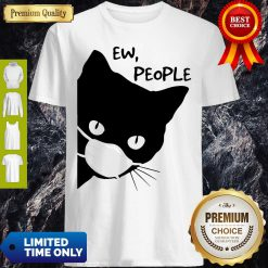 Pretty Black Cat Face Mask Ew People Shirt