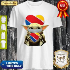 Good Baby Yoda Mask Hug Southwest Airlines Shirt