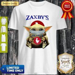 Good Baby Yoda Mask Hug Zaxby's Shirt