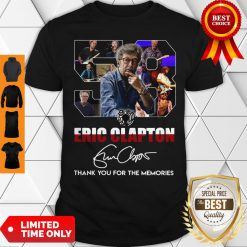 58 Years Of 1962 2020 Eric Clapton Thank You For The Memories Signature Shirt