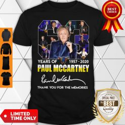 63 Years Of 1957 2020 Paul Mccartney Thank You For The Memories Signature Shirt