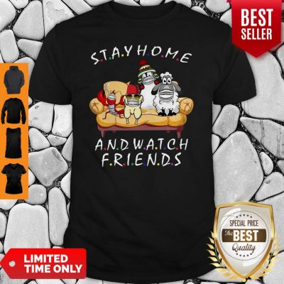 Pets Stay Home And Watch Friends Cartoon COVID-19 Shirt