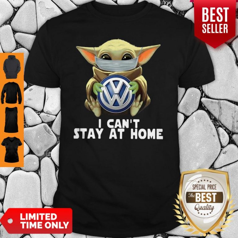 Star Wars Baby Yoda Mask Hug Volkswagen Can't Stay At Home Shirt