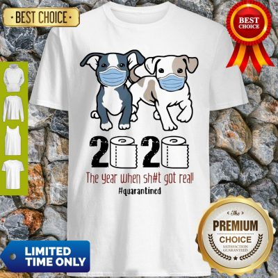 Dogs Mask 2020 The Year When Shit Got Real Quarantined COVID-19 Shirt