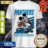 Mickey Mouse Carolina Panthers Keep Pounding Shirt
