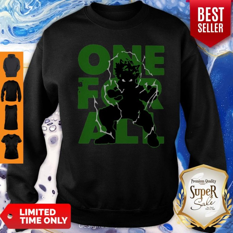 Official One For All 2020 My Hero Academia Sweatshirt