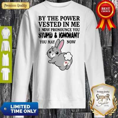 By The Power Vested In Me I Now Pronounce You Stupid And Ignorant Sweatshirt