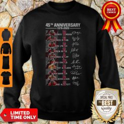 45Th Anniversary 1976 – 2020 Buccaneers Signatures Sweatshirt