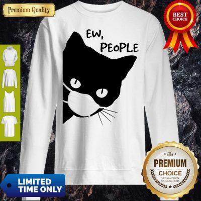 Pretty Black Cat Face Mask Ew People Sweatshirt