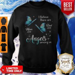 Angels Among Us Butterfly Memorial Personalized Sweatshirt