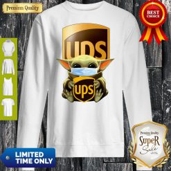 Good Baby Yoda Mask Hug UPS Sweatshirt