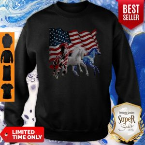 Official Three Horse American Flag Sweatshirt