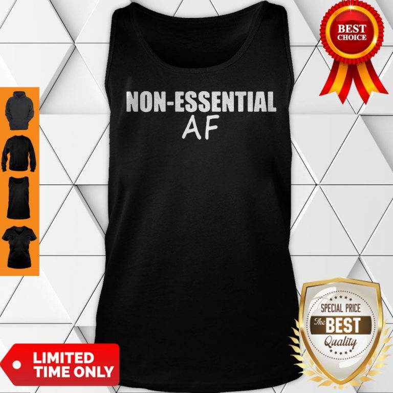 Cute Virus Pandemic Funny Non-Essential AF Tank Top