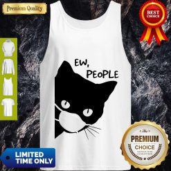 Pretty Black Cat Face Mask Ew People Tank Top