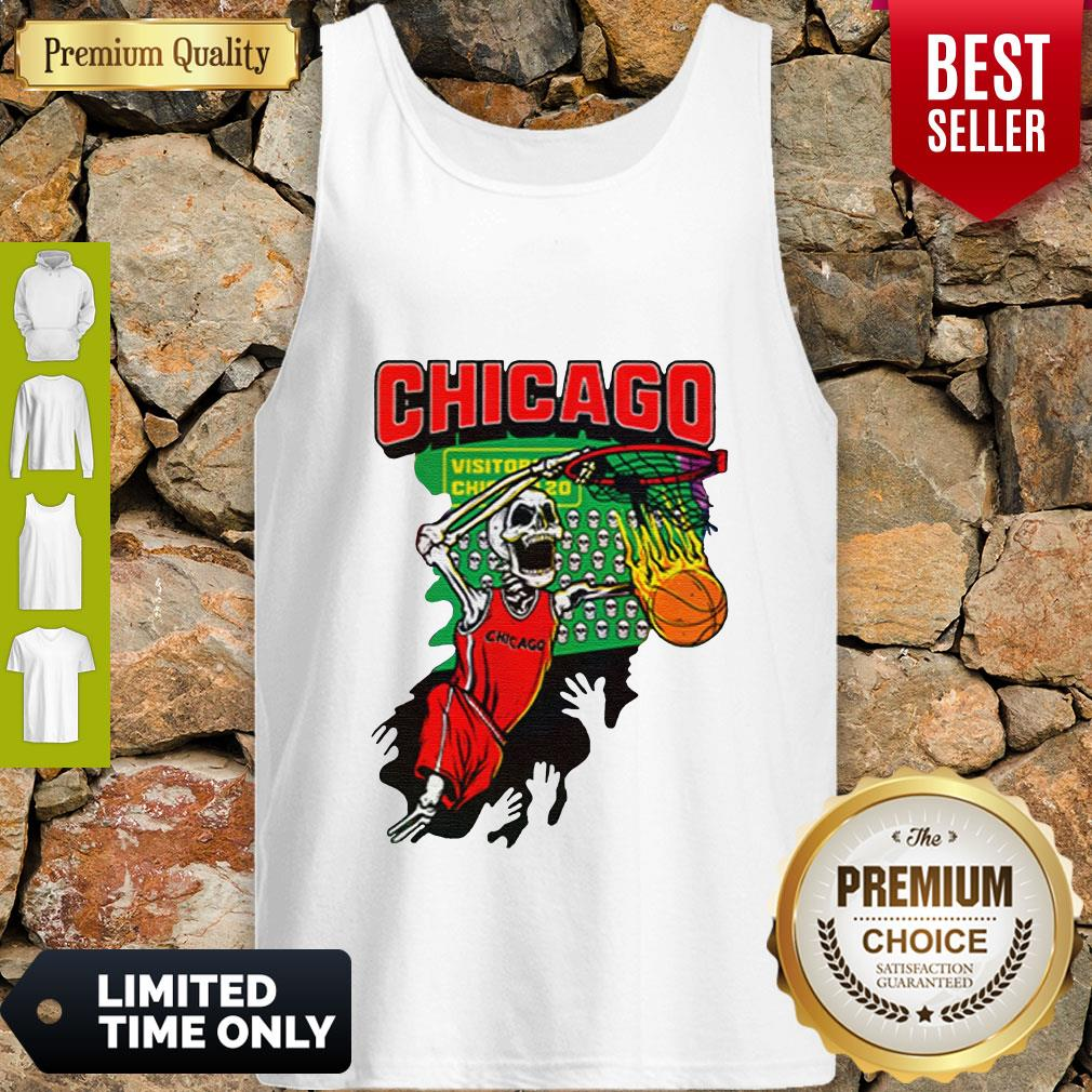 Official Chicago Tie Dye Basketball For Tank Top