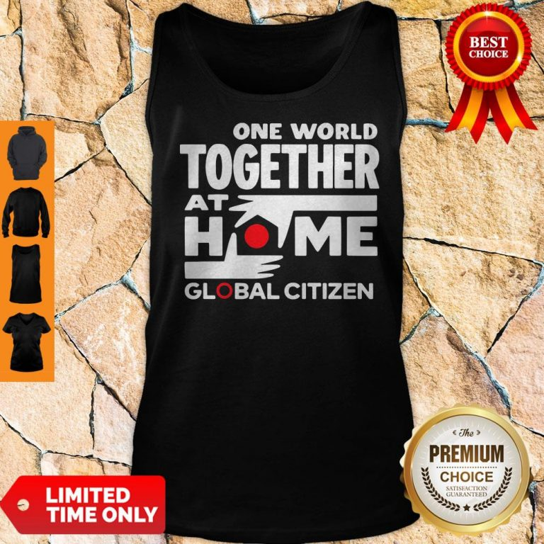 Official One World Together At Home Global Citizen 2020 Tank Top