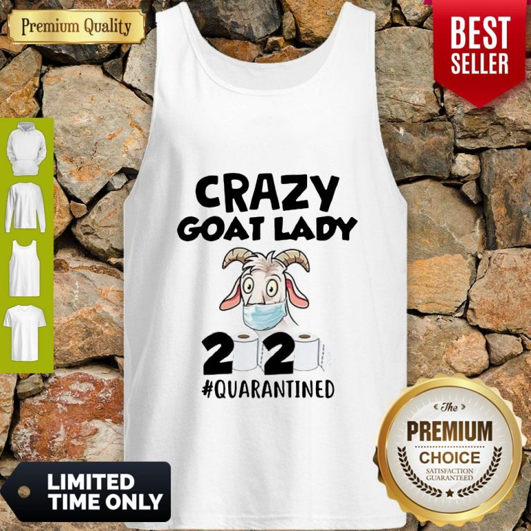 Official Crazy Goat Lady 2020 Quarantined Tank Top