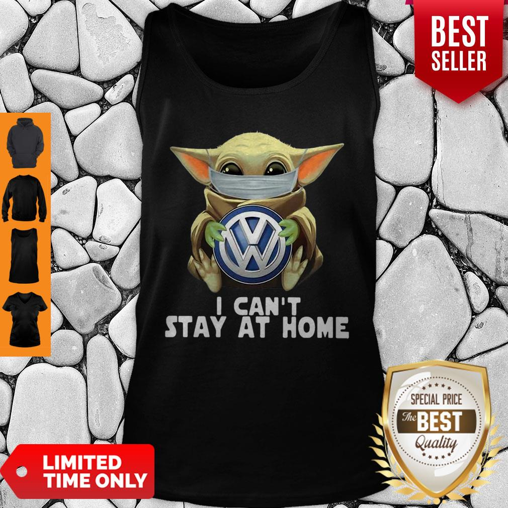 Star Wars Baby Yoda Mask Hug Volkswagen Can't Stay At Home Tank Top