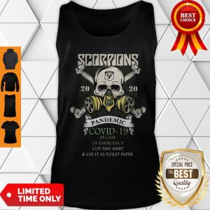 Scorpions 2020 Pandemic Covid 19 And In Case Of Emergency Tank Top