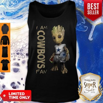 Official Baby Groot I Am Cowboys Fan Tank Top