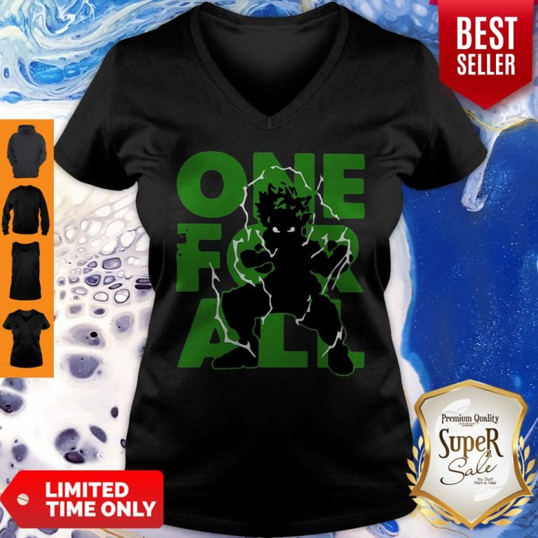 Official One For All 2020 My Hero Academia V-Neck