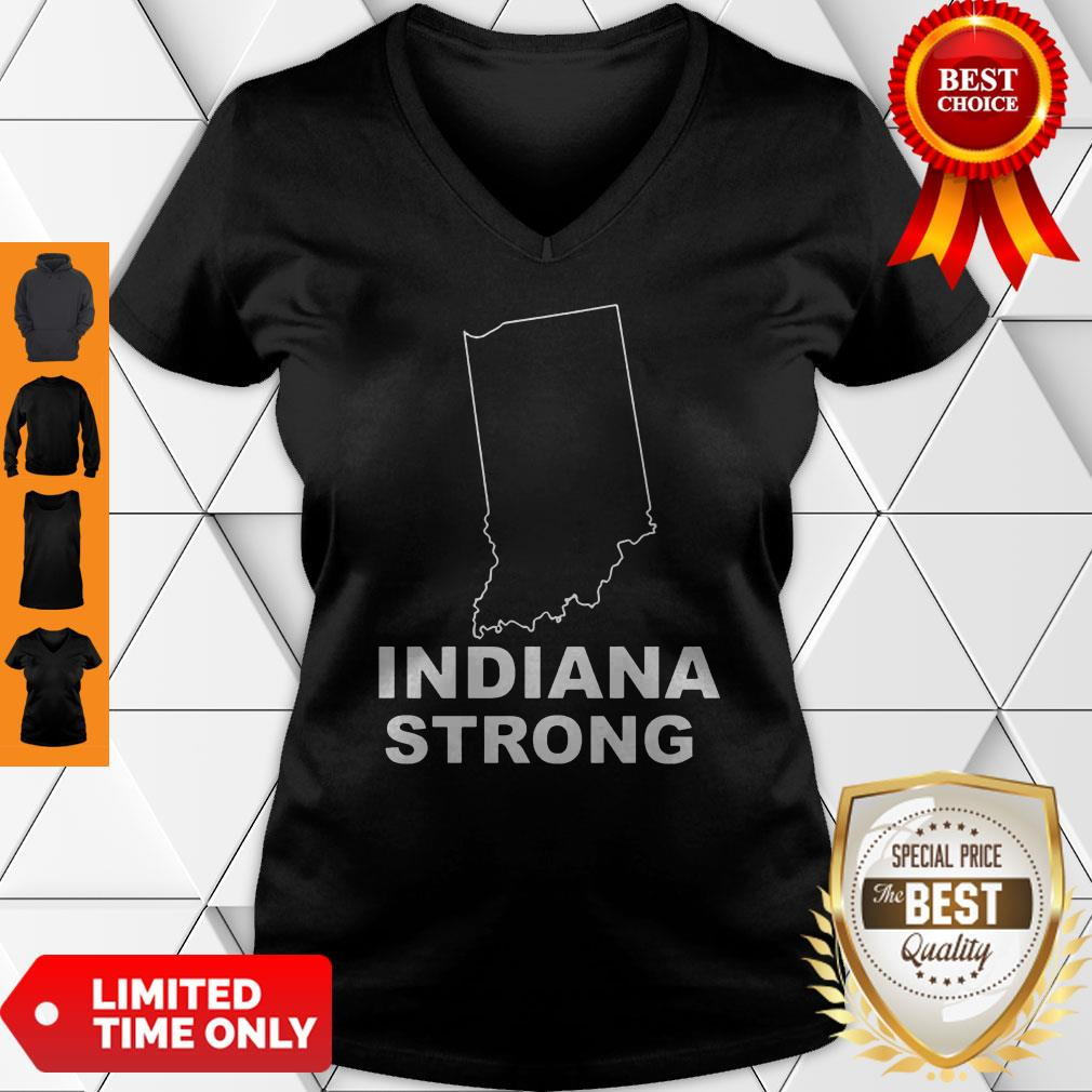Cute Indiana Strong Indiana State US V-Neck