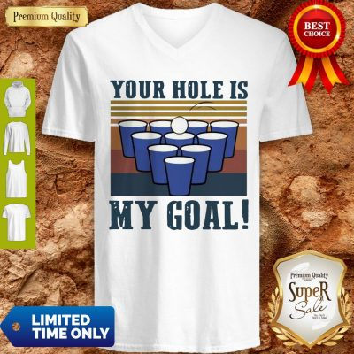 Nice Your Hole Is My Goal Vintage V-Neck
