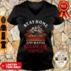 Stay Home And Watch Stranger Things COVID-19 V-Neck