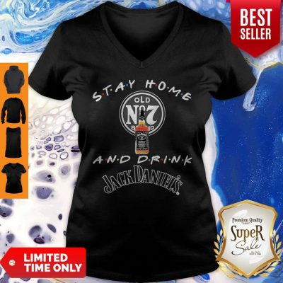 Official Stay Home And Drink Jack Daniel's Coronavirus V-Neck