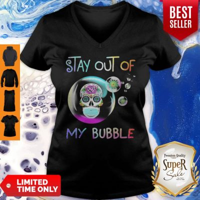 Official Sugar Skull Mask Stay Out Of My Bubble Coronavirus V-Neck