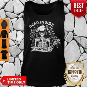 Awesome Dead Inside But Festive Christmas Tank Top