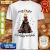 Cute Meowy Christmas Tree Cute Merry X-mas Shirt
