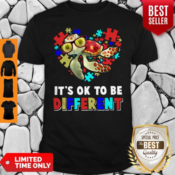 Funny Turtle Autism It's Ok To Be Different Shirt