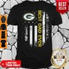 Good Green Bay Packers Best Dad Ever American Flag Shirt