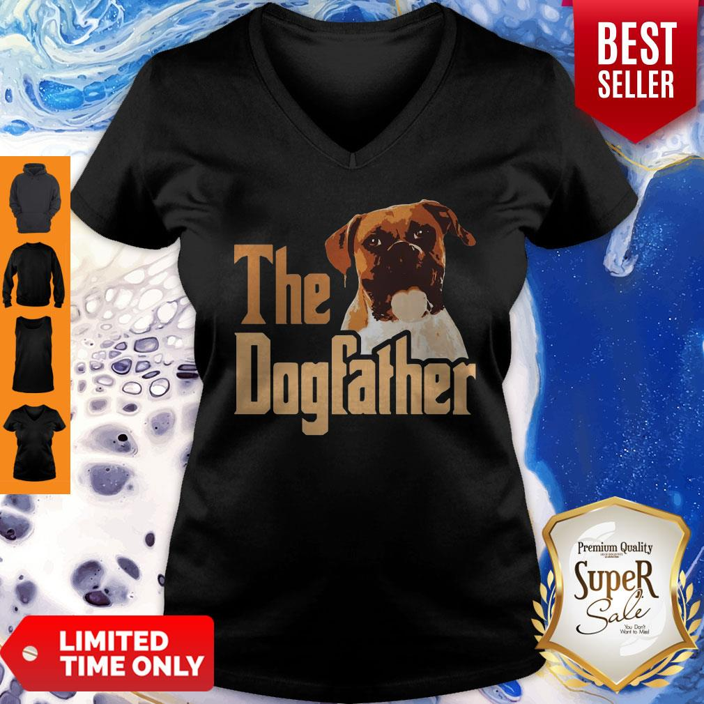 Nice Boxer The Dogfather Father's Day V-neck