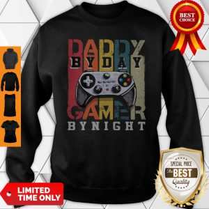 Official Daddy By Day By Night Gamer Vintage Sweatshirt