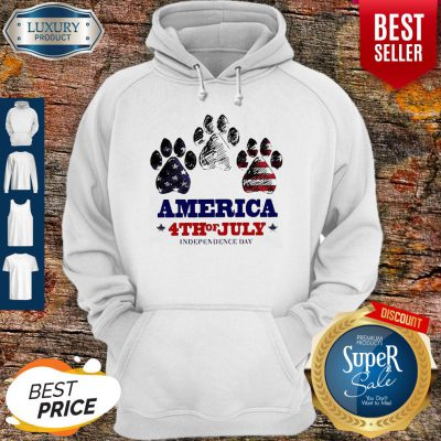 Paw Dog America 4th Of July Independence Day Hoodie