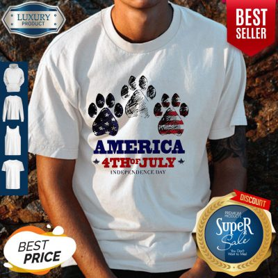 Paw Dog America 4th Of July Independence Day Shirt