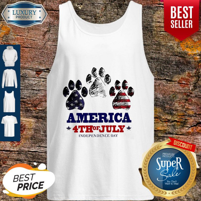 Paw Dog America 4th Of July Independence Day Tank Top