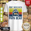 Premium Don't Mess With Papa Bear Vintage V-neck