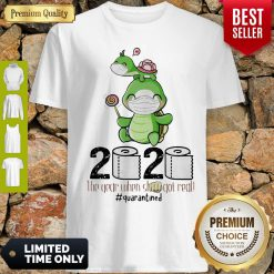 Turtle Mom 2020 The Year When Shit Got Real Quarantined Toilet Paper COVID-19 Shirt