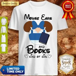 Nice Mickey Mouse Ears And Books Kind Of Girl Shirt