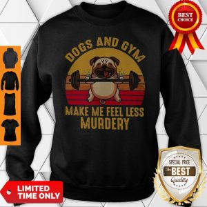 Dogs And Gym Make Me Feel Less Murdery Sunset Vintage Sweatshirt