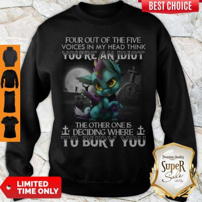 Dragon Four Out Of The Five Voices In My Head Think You're An Idiot Sweatshirt