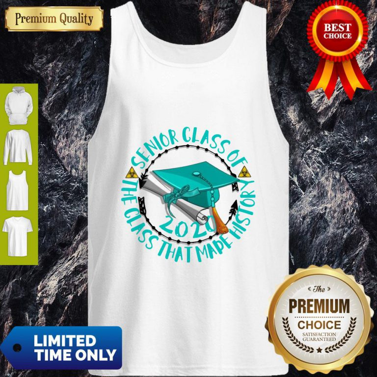 Senior Class Of 2020 The Class That Made His Story Blue Circle Tank Top