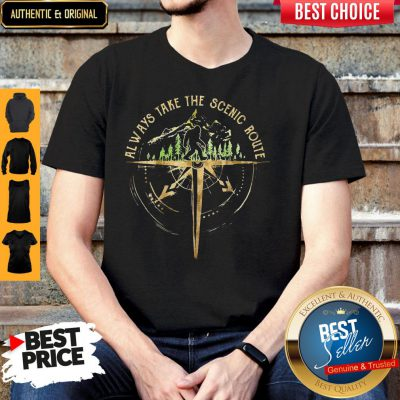 Top Bigfoot Always Take The Scenic Route Shirt