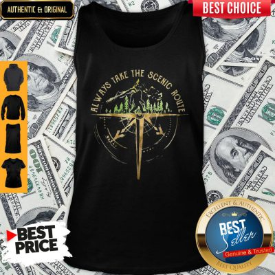 Top Bigfoot Always Take The Scenic Route Tank Top