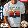 Top Jesus Saves Volleyball Vintage Shirt